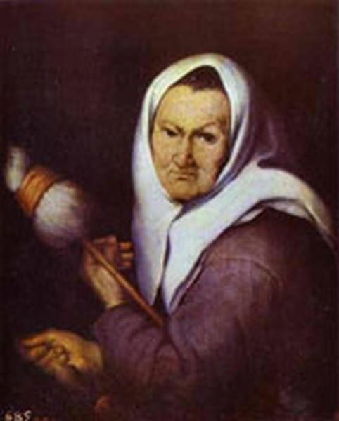 old woman with a distaff 1642 XX museo del prado madrid spain